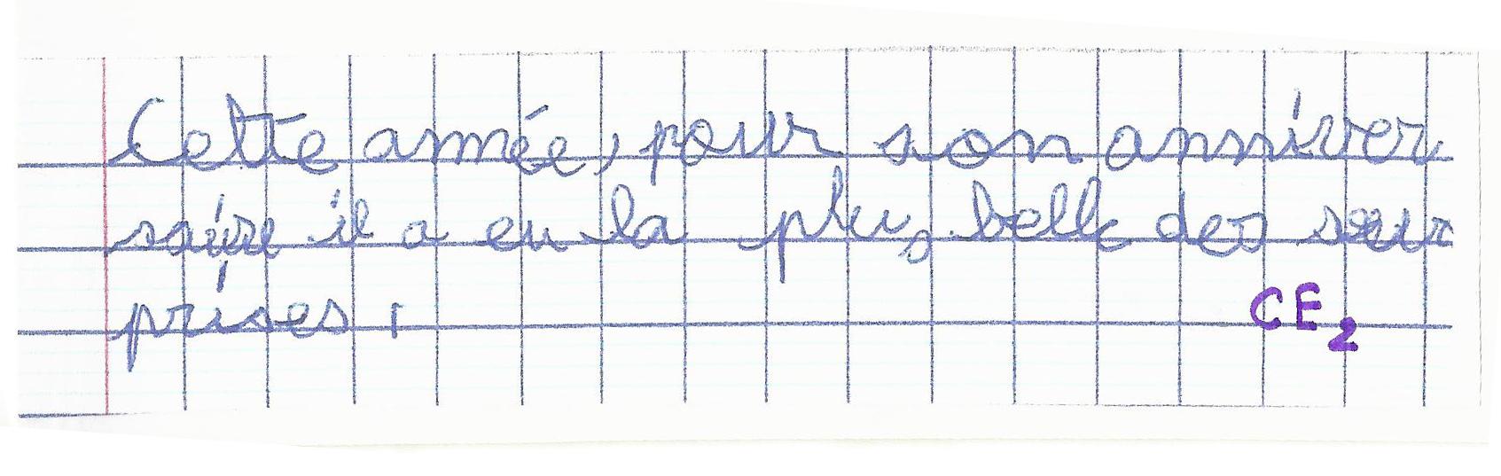 dysgraphie exemple ligne d'écriture